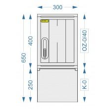 Prázdná skříň OZ-0/40 + K-0