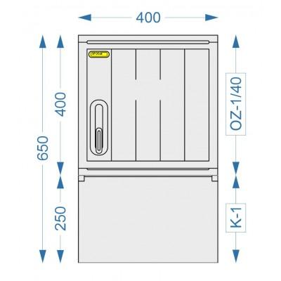Prázdná skříň OZ-1/40 + K-1