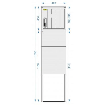 Prázdná skříň OZ-1/40 + F-1