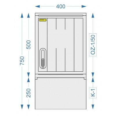 Prázdná skříň OZ-1/50 + K-1