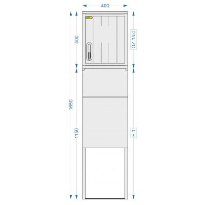 Prázdná skříň OZ-1/50 + F-1