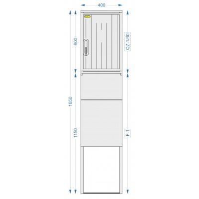 Prázdná skříň OZ-1/60 + F-1