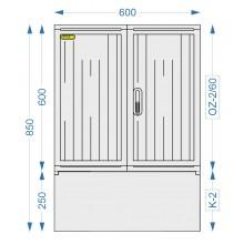 Prázdná skříň OZ-2/60 + K-2