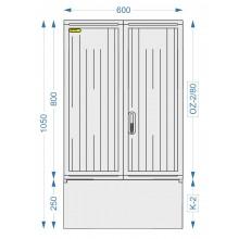 Prázdná skříň OZ-2/80 + K-2