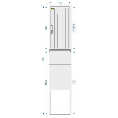 Prázdná skříň OZ-2/80 + F-2