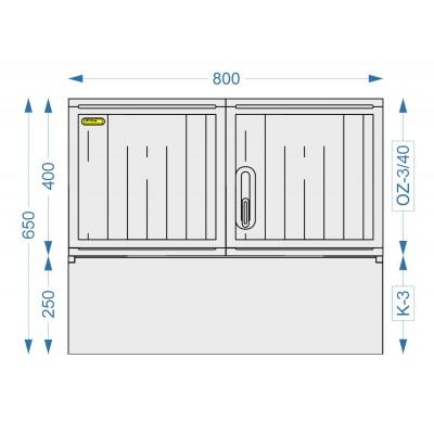Prázdná skříň OZ-3/40 + K-3