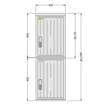 SFOS 2EJ1RP - dvou elektroměrový jednofázový jednotarifní rozvaděč v pilíři (E-ON, ČEZ)