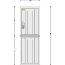 SFOS EJ2RP - elektroměrový jednofázový dvoutarifní rozvaděč v pilíři (E-ON, ČEZ)