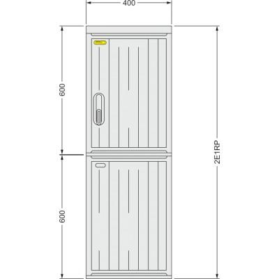 SFOS 2E1RP - dvou elektroměrový třífázový jednotarifní rozvaděč v pilíři (E-ON, ČEZ)