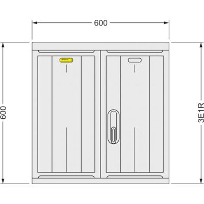 SFOS 3E1R - tří elektroměrový třífázový jednotarifní rozvaděč (E-ON, ČEZ)