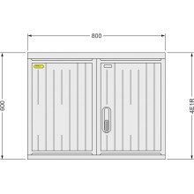 SFOS 4E1R - čtyř elektroměrový třífázový jednotarifní rozvaděč (E-ON, ČEZ)