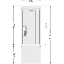 SFOS E1R+K0 - elektroměrový třífázový jednotarifní rozvaděč s kabelovým prostorem K0 (E-ON, ČEZ)