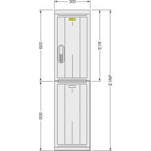 SFOS E1RP - elektroměrový třífázový jednotarifní rozvaděč v pilíři (E-ON, ČEZ)
