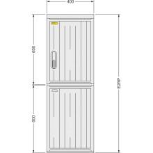 SFOS E2RP - elektroměrový třífázový dvoutarifní rozvaděč v pilíři (E-ON, ČEZ)