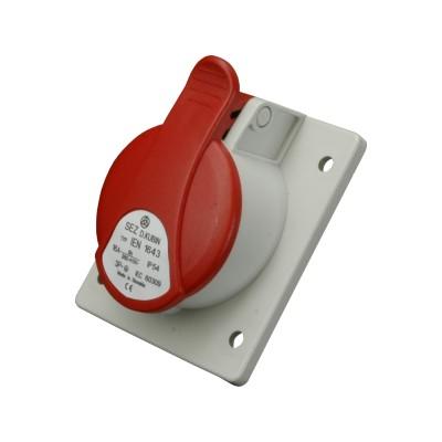 Zásuvka vstavaná IEN 1643 16A/400V/4P/IP54