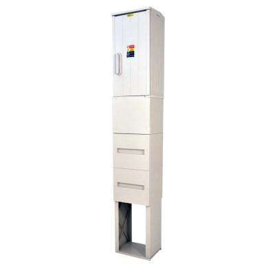 SFOS E1RP/F+ZD třífázový jednotarifní elektroměrový rozvadeč v pilíři se zemním dílem (E-ON, ČEZ)